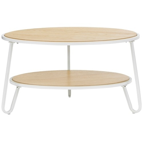 White Macy Round Coffee Table | Temple & Webster Intended For Macie Round Dining Tables (View 8 of 25)