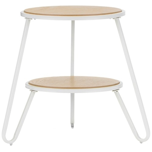 White Macy Round Side Table | Temple & Webster Intended For Macie Round Dining Tables (Image 25 of 25)