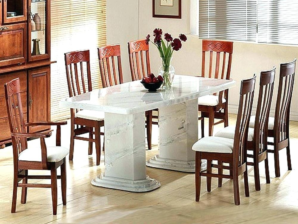 White Marble Dining Table – Energeticos (Image 24 of 25)