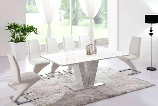White Marble Dining Table Refectory Marble Dining Table With 6 Or 8 Regarding Solid Marble Dining Tables (View 20 of 25)