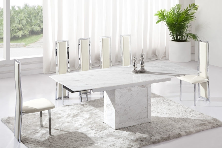White Marble Dining Table Sets — Temeculavalleyslowfood Within Marble Dining Tables Sets (Image 25 of 25)