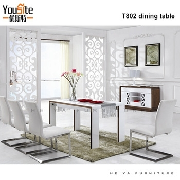 White Melamine Dining Table, Wooden Dining Table With Glass Top Inside White Melamine Dining Tables (Image 25 of 25)