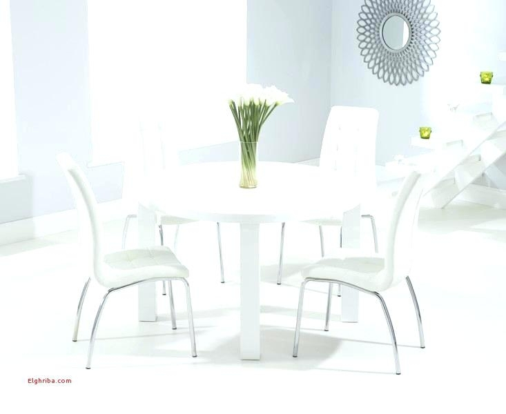 White Round Dining Table And Chairs Galaxy Round Clear Glass Dining Regarding White Circular Dining Tables (Image 24 of 25)