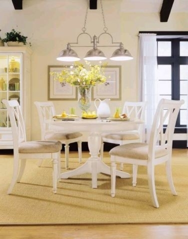 White Round Dining Table Set | Home Design Ideas Essentials With Regard To White Circle Dining Tables (View 22 of 25)