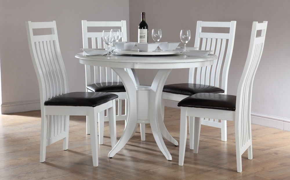 White Round Dining Table Sets – Castrophotos Regarding White Dining Tables Sets (View 14 of 25)