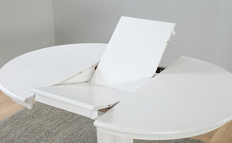 White Round Dining Tables | Furniture Choice Throughout White Circle Dining Tables (View 18 of 25)