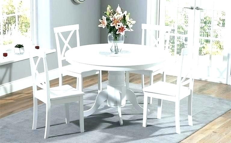 White Round Dining Tables Round Dining Tables For 6 Kitchen Table Inside White Circle Dining Tables (Image 21 of 25)
