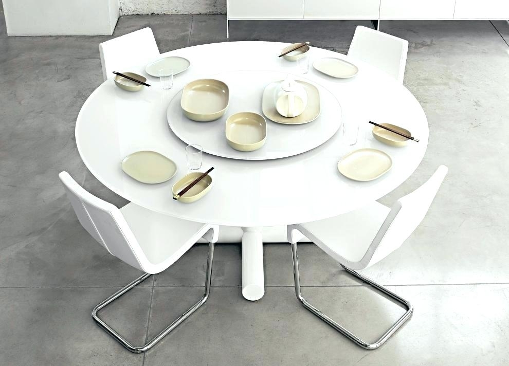 White Round Dining Tables White Dining Table And Chairs Amazon Inside White Circle Dining Tables (Image 22 of 25)
