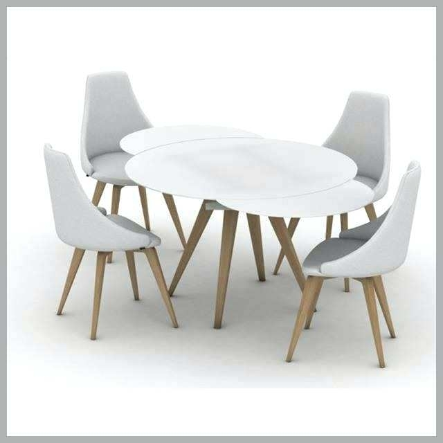 White Round Extendable Dining Table Extending Small Brilliant Smart With Regard To White Round Extendable Dining Tables (View 16 of 25)