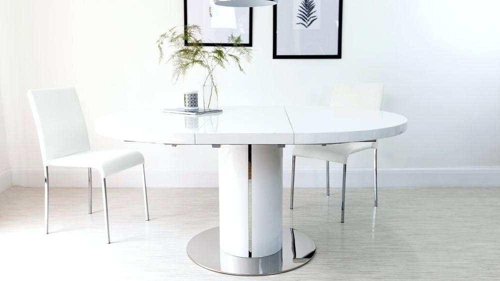 White Round Extendable Dining Table Modern White Round Dining Design Intended For White Round Extendable Dining Tables (Image 22 of 25)