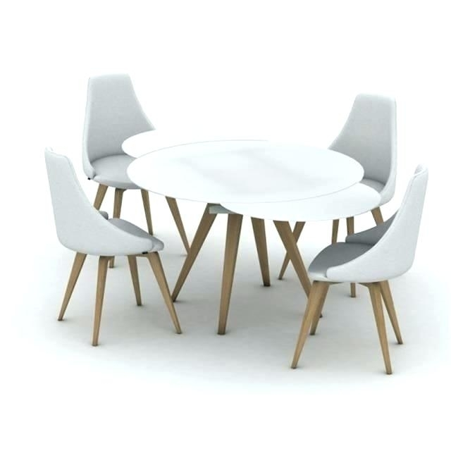 White Round Extending Dining Table – Emilytocco Intended For Extending Round Dining Tables (Image 25 of 25)
