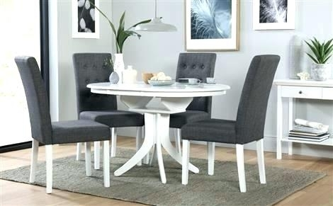 White Round Extending Dining Table – Emilytocco Intended For White Extending Dining Tables And Chairs (Image 23 of 25)