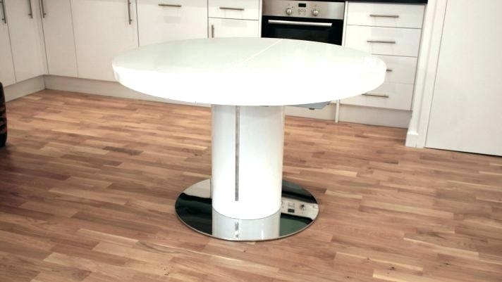 White Round Extending Dining Table Oval Within Extendable At Tables Intended For White Round Extending Dining Tables (Image 23 of 25)