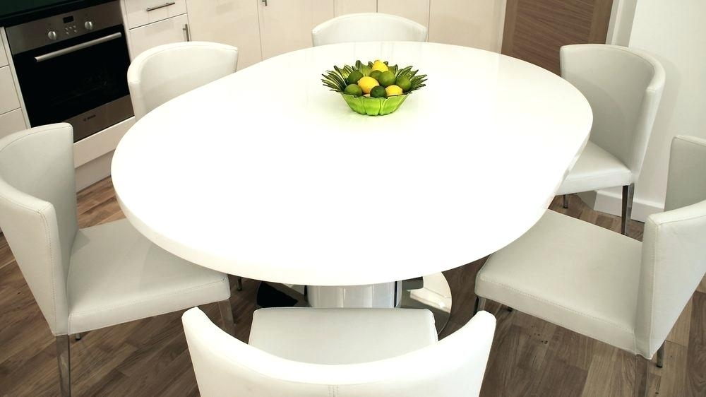 White Round Pedestal Dining Table Modern Round White Gloss Extending For White Gloss Round Extending Dining Tables (View 6 of 25)