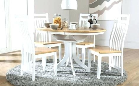 White Round Pedestal Table And Chairs – Modern Computer Desk Regarding Round Extendable Dining Tables And Chairs (Image 25 of 25)