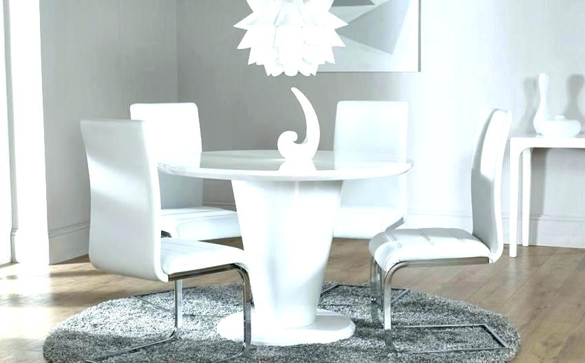White Round Table White Round Dining Room Table White Pill L484 Mg With Regard To White Circle Dining Tables (Image 23 of 25)