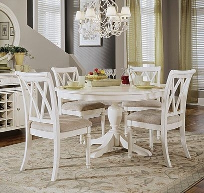 White Round Table With Chairs Check More At Http://casahoma Intended For Palazzo 6 Piece Rectangle Dining Sets With Joss Side Chairs (View 14 of 25)