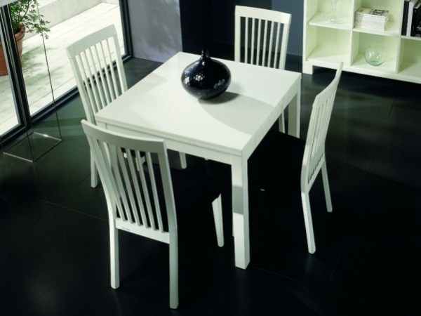 White Square Extending Dining Table | Dining Room Chairs Regarding White Square Extending Dining Tables (View 2 of 25)
