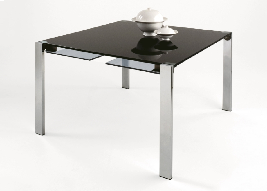 White Square Extending Dining Table | Dining Room Chairs With Regard To Square Extendable Dining Tables (Image 24 of 25)