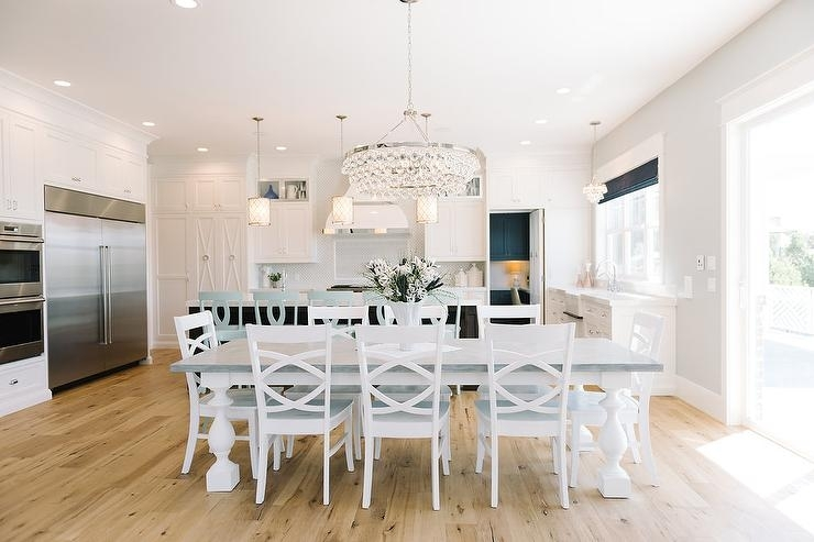 White Turned Dining Table Legs Design Ideas Throughout Dining Tables With White Legs And Wooden Top (Image 23 of 25)