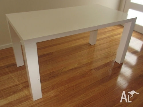 White Vogue Gloss Dining Table From Fantastic Furniture For Sale In Regarding Vogue Dining Tables (Image 25 of 25)