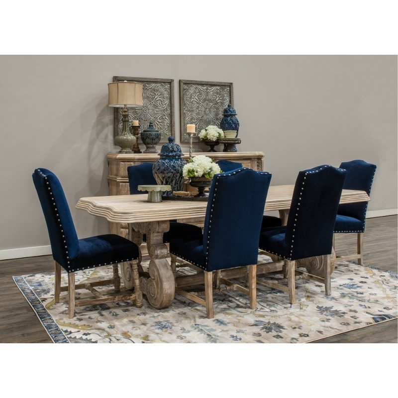 Whitewashed Natural Wood Rustic Dining Table – Karsten | Rc Willey Inside Rustic Dining Tables (View 24 of 25)