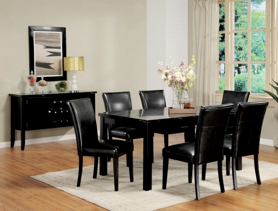 Why Black Dining Table : Ugarelay – Black Dining Table Furniture With Regard To Black Dining Tables (Image 25 of 25)