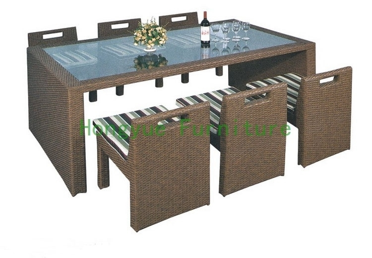 Wicker Dining Furniture Supplier,rattan Dining Table And Chairs In For Rattan Dining Tables (View 7 of 25)