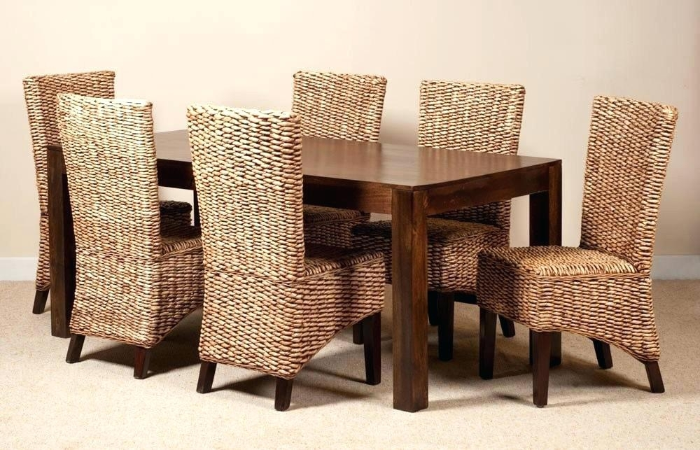 Wicker Dining Table And Chairs Rattan Dining Table Chairs Furniture Pertaining To Rattan Dining Tables And Chairs (Image 23 of 25)