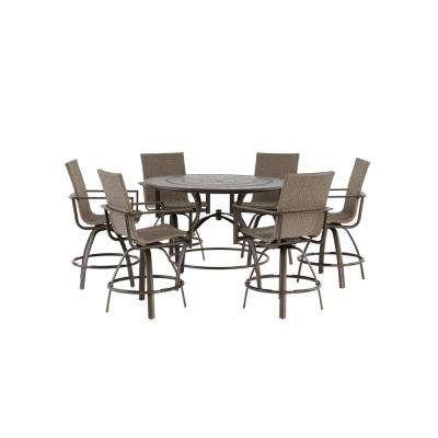 Wicker Patio Furniture – Outdoor Bar Furniture – Patio Furniture Regarding Delfina 7 Piece Dining Sets (Image 25 of 25)