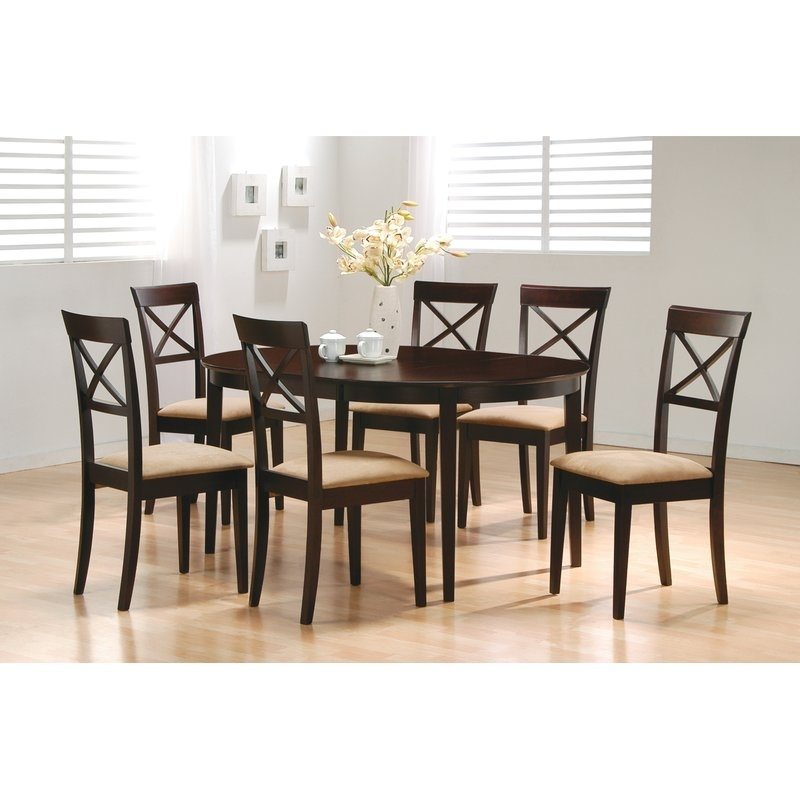 Wildon Home ® Crawford 7 Piece Dining Set & Reviews | Wayfair Inside Crawford 6 Piece Rectangle Dining Sets (View 2 of 25)