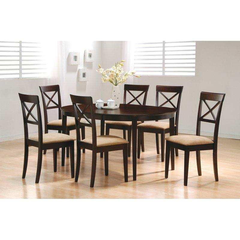 Wildon Home ® Crawford 7 Piece Dining Set & Reviews | Wayfair Inside Crawford 6 Piece Rectangle Dining Sets (Image 25 of 25)