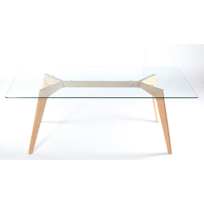 Wildon Home Glass Dining Table | Wayfair.co (View 21 of 25)