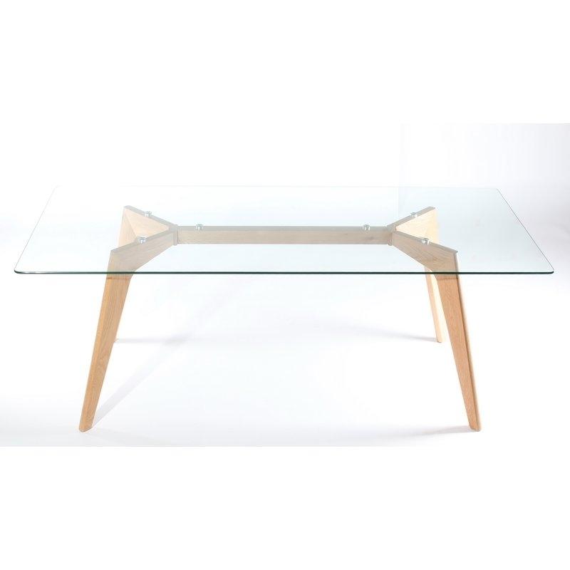 Wildon Home Glass Dining Table | Wayfair.co (Image 25 of 25)