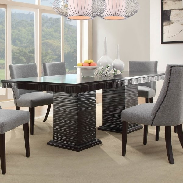 Willa Arlo Interiors Cadogan Extendable Dining Table & Reviews | Wayfair Within Candice Ii 7 Piece Extension Rectangular Dining Sets With Uph Side Chairs (View 18 of 25)