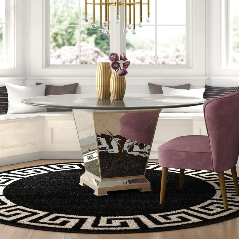 Willa Arlo Interiors Roehl Round Dining Table & Reviews | Wayfair For Macie 5 Piece Round Dining Sets (Image 24 of 25)