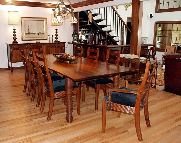 William Robbins Furniture Maker In Walnut Dining Tables And Chairs (Image 25 of 25)