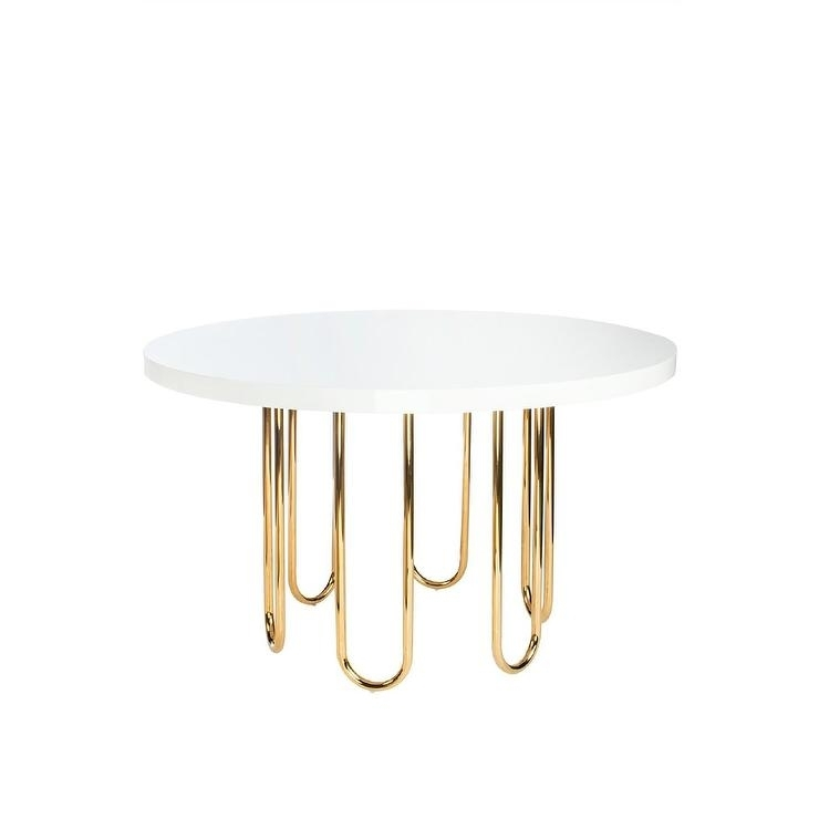 Willow Gold White Round Dining Table For White Circle Dining Tables (Image 25 of 25)