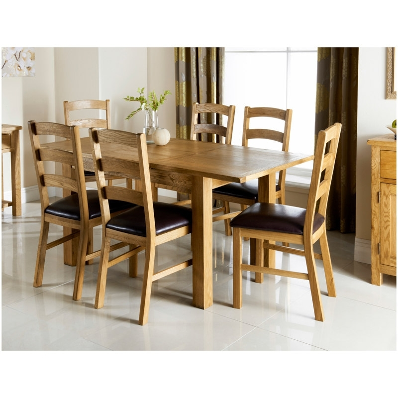 Wiltshire Oak Dining Set 7Pc | Dining Room Furniture – B&m Intended For Oak Dining Chairs (View 18 of 25)