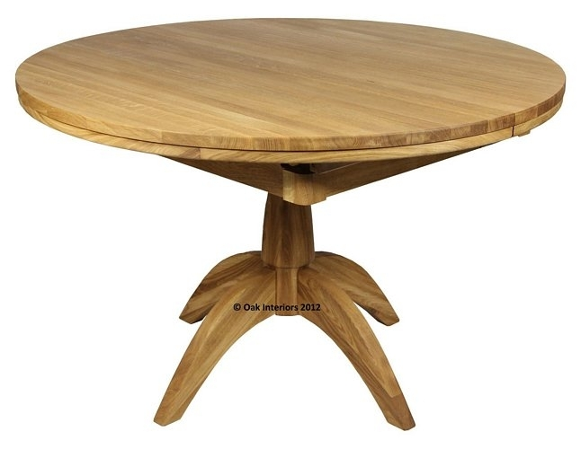 Windsor Round Extending Solid Oak Dining Table From Solidoak Dining Inside Circular Oak Dining Tables (Image 25 of 25)