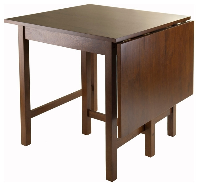 Winsome Lynden Drop Leaf Dining Table – Transitional – Dining Tables With Drop Leaf Extendable Dining Tables (Image 25 of 25)