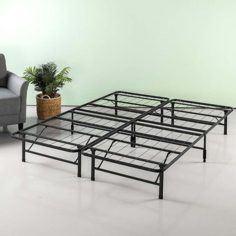 Winston Porter Helms Regular Bed Frame | Wayfair Within Helms 7 Piece Rectangle Dining Sets (View 17 of 25)