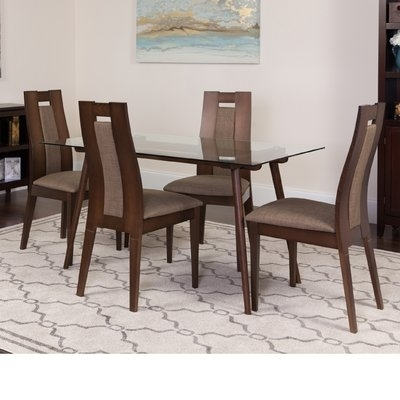 Winston Porter Hunnicutt 5 Piece Solid Wood Dining Set In 2018 In Macie 5 Piece Round Dining Sets (View 12 of 25)