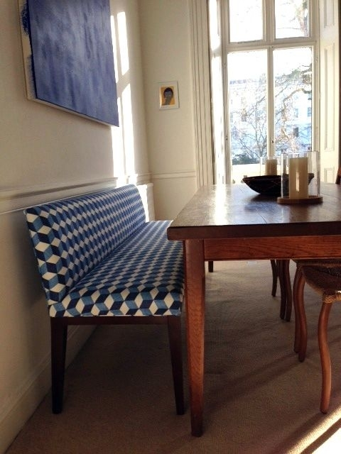 With Different Fabric Padded Dining Bench With Low Back – Google In Bench With Back For Dining Tables (View 5 of 25)