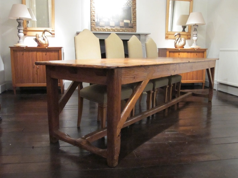 Wonderful 19Th Century French Farmhouse Dining Table – Dining Tables With Regard To Farm Dining Tables (View 19 of 25)