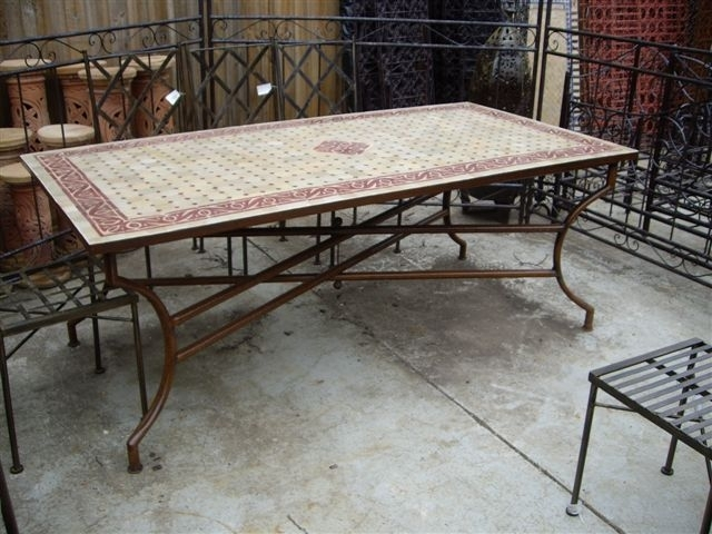 Wonderful Decoration Mosaic Dining Tables Mosaic Dining Tables For In Mosaic Dining Tables For Sale (View 5 of 25)
