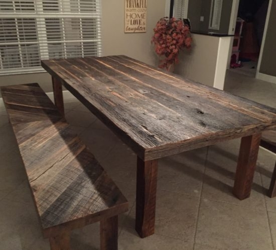 Wonderful Enchanting Orlando Reclaimed Wood Tables Custom On Barn Pertaining To Cheap Reclaimed Wood Dining Tables (Image 25 of 25)