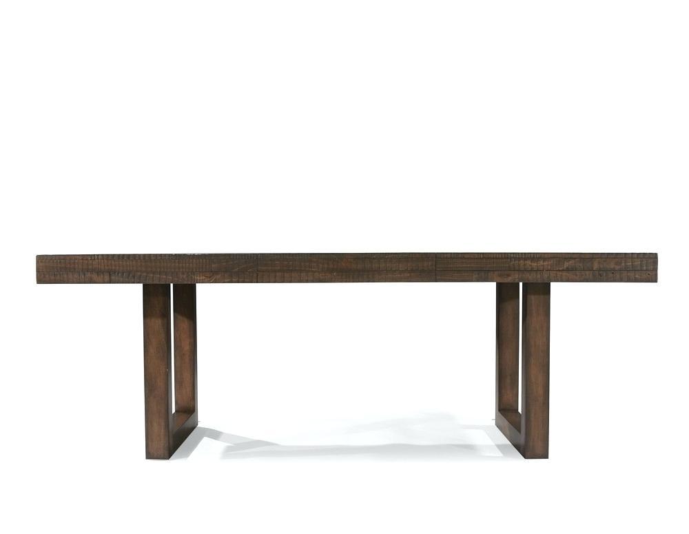 Wonderful Pedestal Dining Table Modern Rectangular Home Design Inside Magnolia Home Double Pedestal Dining Tables (Image 25 of 25)