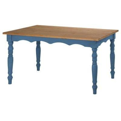 Wood – Dining Table – Blue – Kitchen & Dining Tables – Kitchen Within Blue Dining Tables (View 25 of 25)