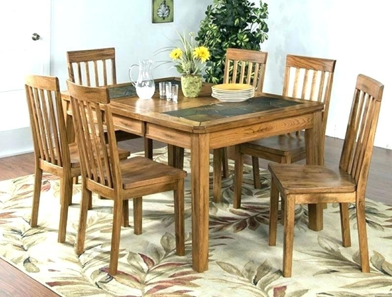 Wood Dinner Set Vibrant Inspiration Oak Dining Table And Chairs Regarding Oak Dining Sets (Image 24 of 25)